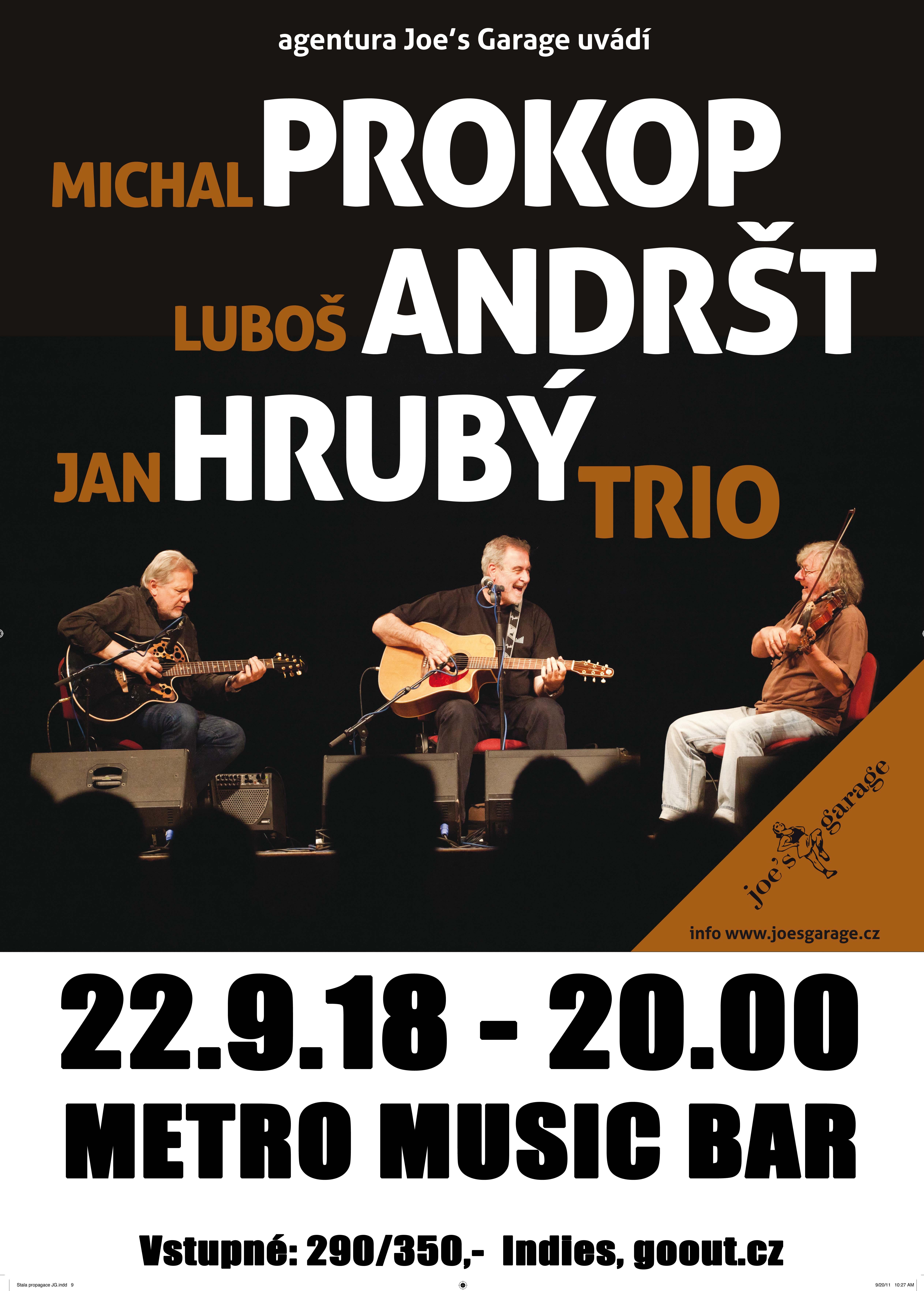 Michal Prokop & Jan Hrubý & Luboš Andršt trio – Blues Rock Fest 2018